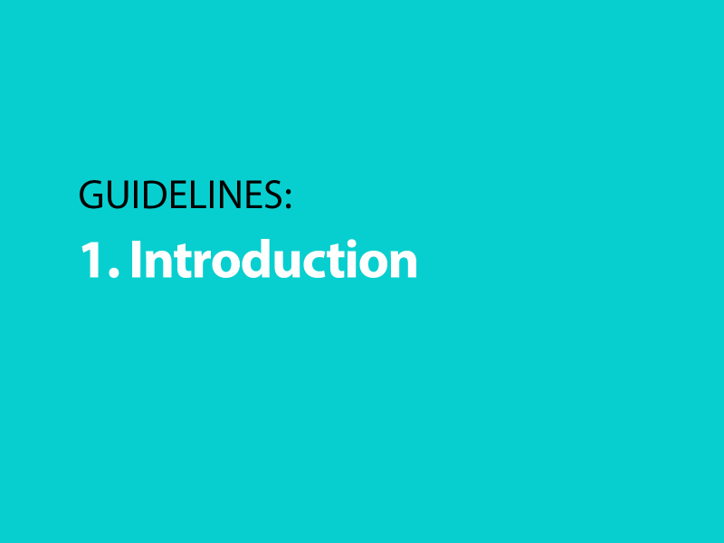 Guidelines: 1. Introduction